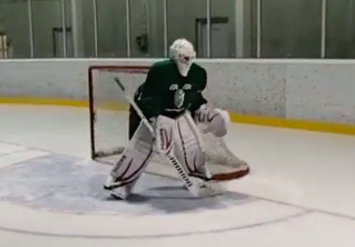 Focus and readiness on goalie drills