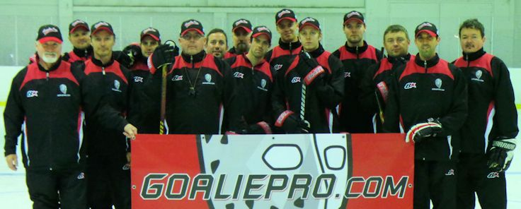 Coaches and mentoring students from GoaliePro camp 2015